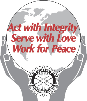 Act with Integrity, Serve with Love, Work for Peace